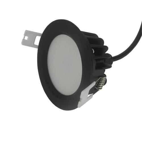 Spot encastrable salle de bain IP65 LED 7W noir perçage 75mm