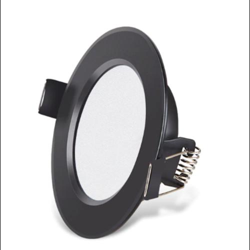 LED inbouwspot zaagmaat 65 mm 5W lage inbouwdiepte zwart dimbaar