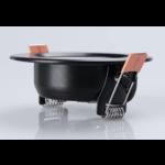Inbouwspot zaagmaat 75 mm 9W LED lage inbouwdiepte zwart dimbaar