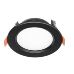 Inbouwspot LED zwart 12W zaagmaat 80 mm lage inbouwdiepte dimbaar