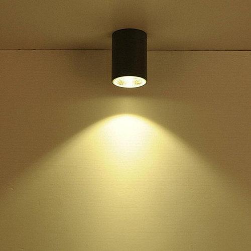 Plafondlamp buiten zwart, wit, chroom 7W LED IP65
