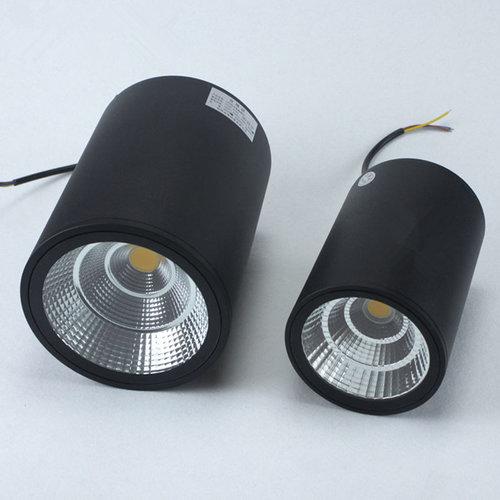 Spot plafond extérieur IP65 noir 7WW LED