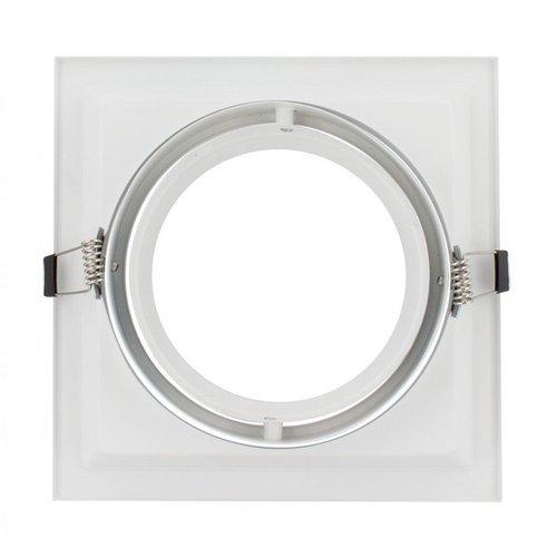 Inbouwspot AR111 GU10 vierkant zaagmaat 160x160mm wit of zwart