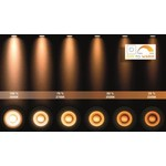 Badkamerlamp IP44 zwart of wit GU10 met 5W LED dim to warm