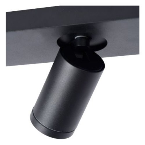 Plafondspot badkamer wit of zwart 2x5W GU10 dim to warm