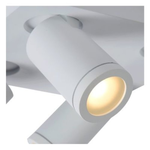 Badkamerlamp spots 4x5W LED GU10 dim to warm wit of zwart