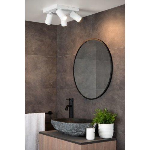 Plafonnier spot salle de bain 4x5W LED GU10 blanc ou noir