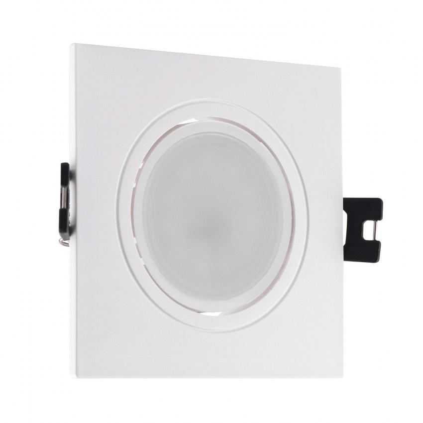 Spot encastrable pas cher GU10 avec spot LED 6W carré