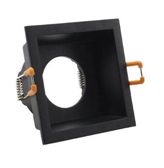Spot encastrable GU10 noir carré perçage 75 x 75 mm orientable