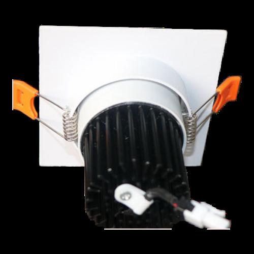Spot encastrable ouverture 110mm 12W LED carré blanc dimmable