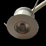 Spot LED petit diamètre blanc rond 4W dimmable scie 30mm