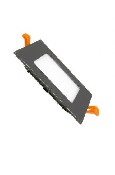 Inbouwspot vierkant zwart LED 6W