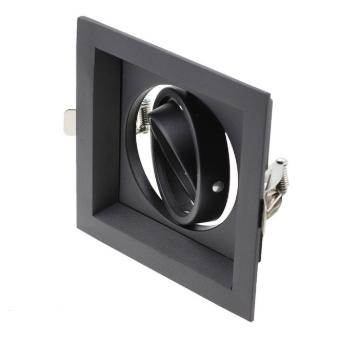 downlight zwart vierkant GU10 zaagmaat 110x110mm