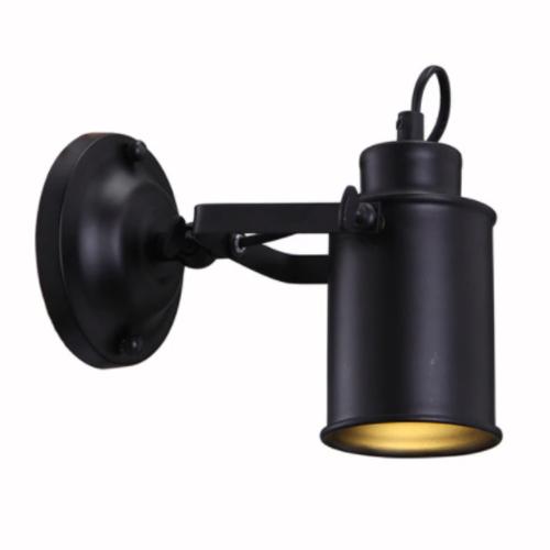 Plafondspot industrieel vintage zwart richtbaar E27