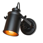 Spot industriel vintage noir orientable E27
