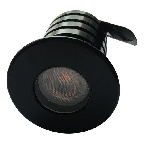 Mini LED spot 3W IP67 230V zonder trafo zwart