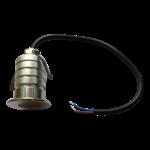 Mini spot LED extérieur 3W IP67 gris transforateur encastré
