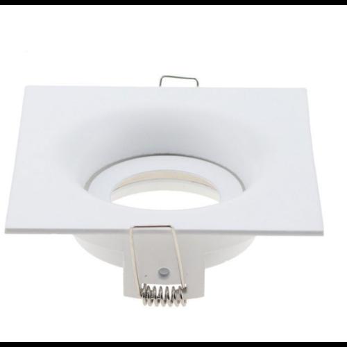 Inbouwspot vierkant wit GU10 design zaagmaat 90mm