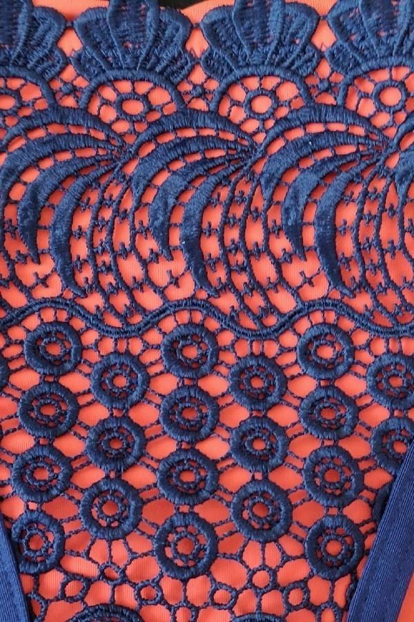 Triangel Bikini Blauw Oranje - Broekje-2