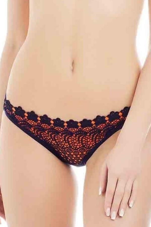 Triangel Bikini Blauw Oranje - Broekje-3