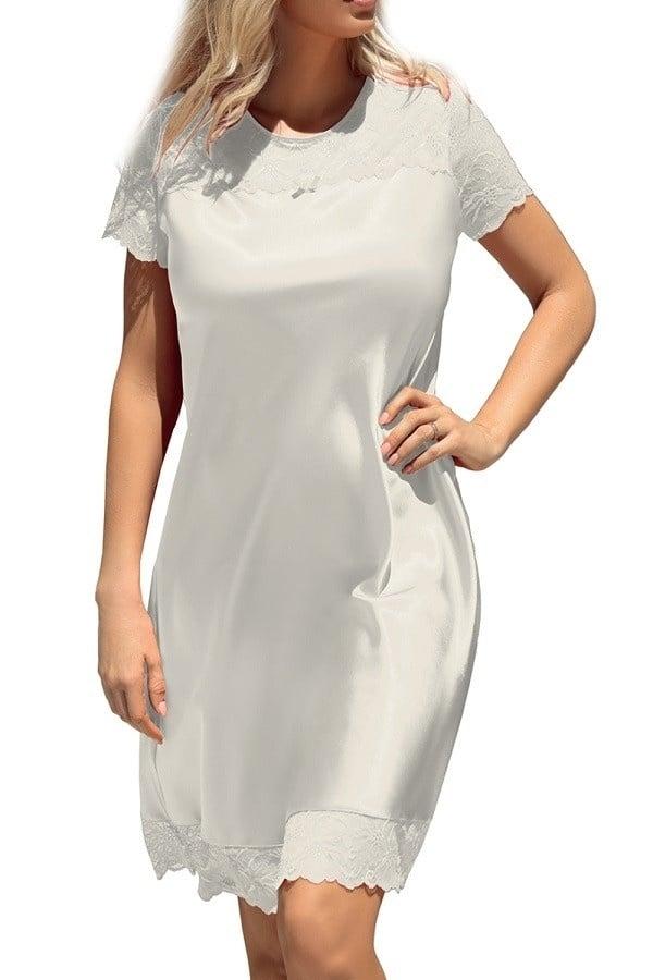 Louisa Nachthemd Satijn met mouwtjes-2