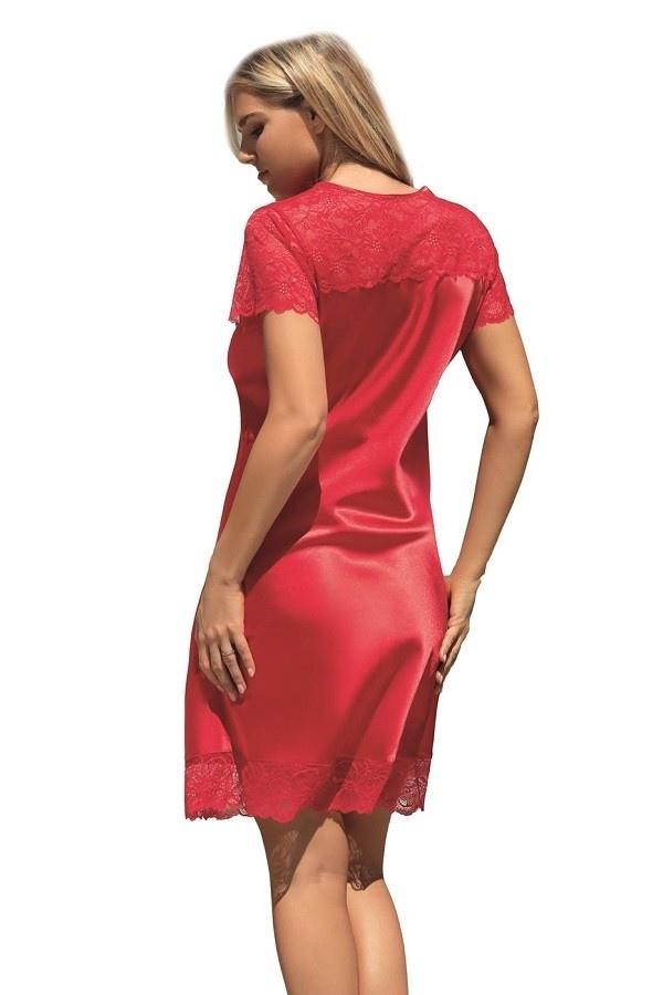 Louisa Nachthemd Satijn met mouwtjes-3