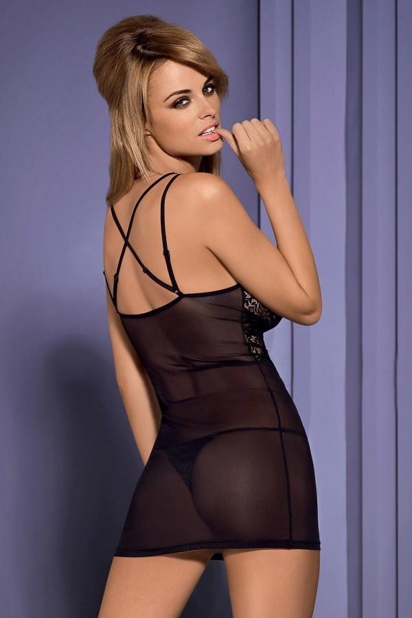 Odessa Zwart jurkje van Tule-2