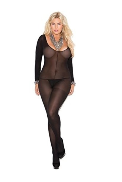 Zwarte Bodystocking