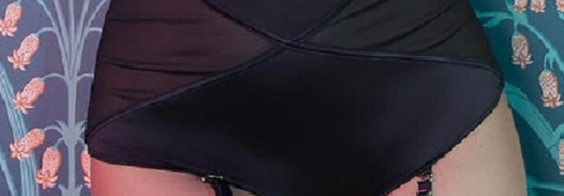 Zwart Satijnen Taille Broekje