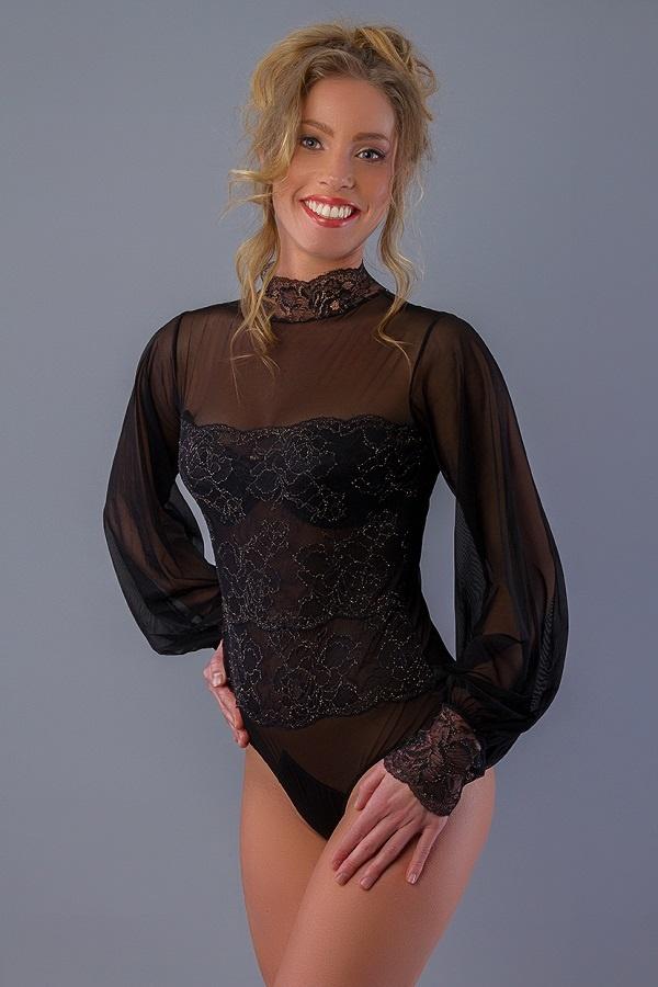 Rosy Zwarte Body met Goud-1