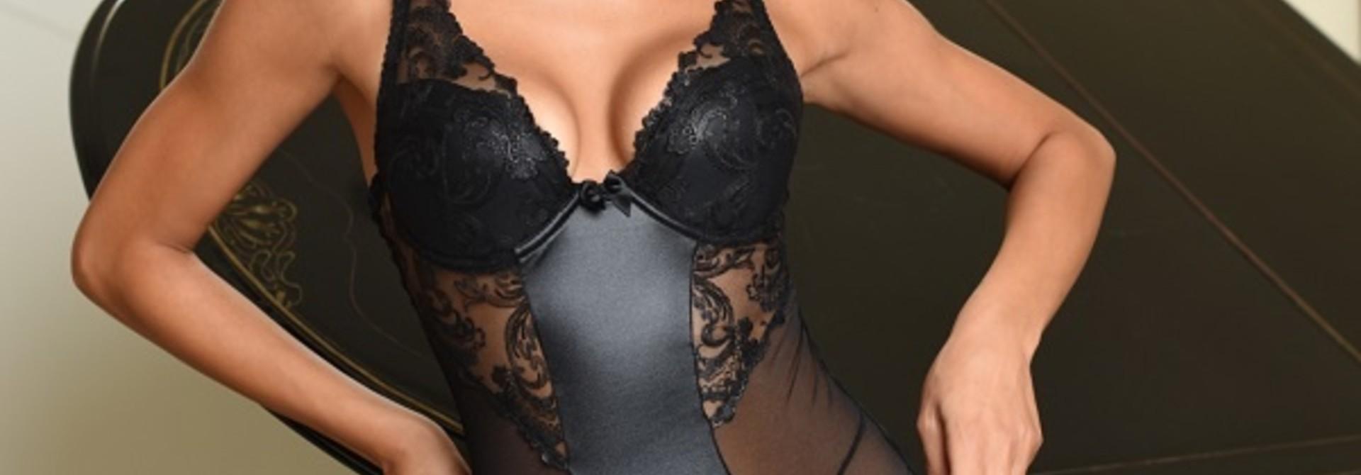 Sexy zwarte lingeriebody Misty