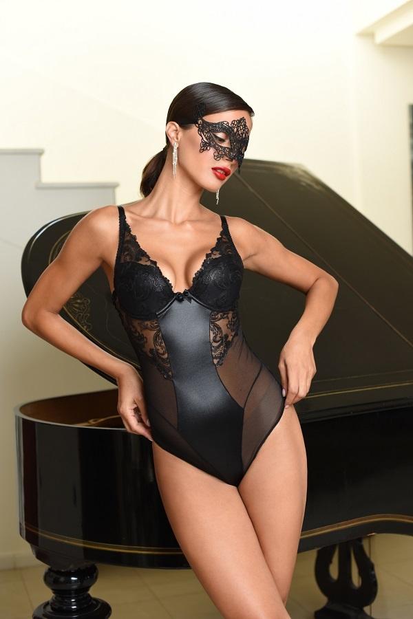 Sexy zwarte lingeriebody Misty-1