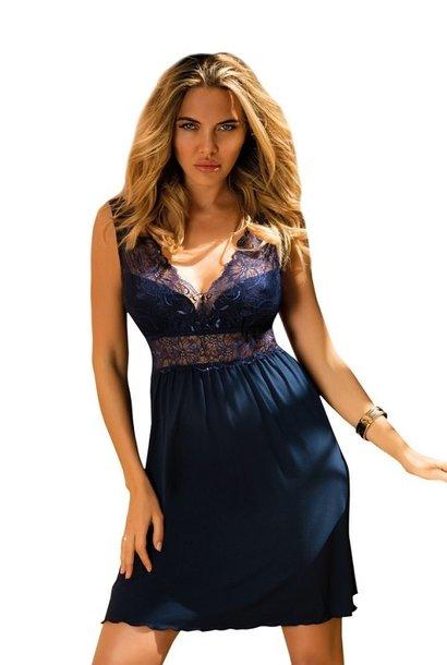 Donkerblauw nachthemd Celinda