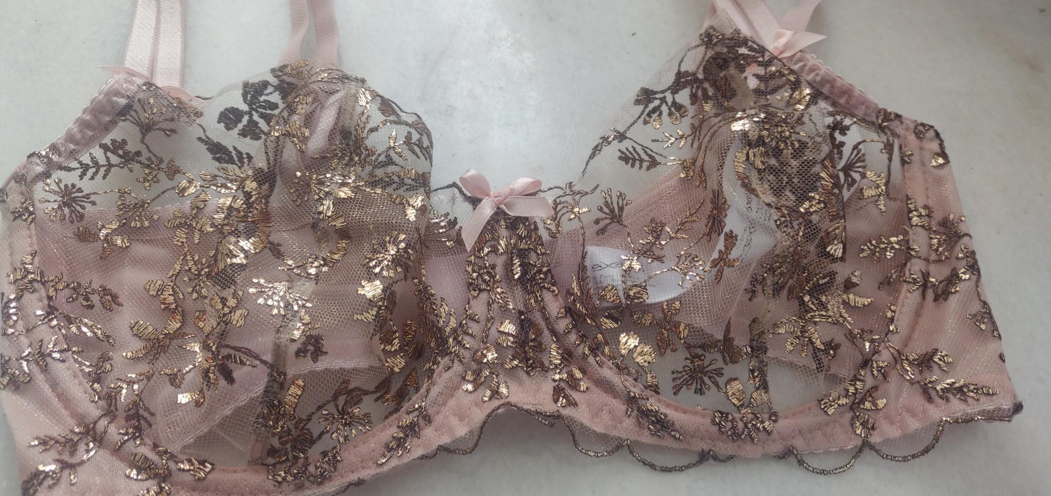 Doorzichtige beha roze met goud-3