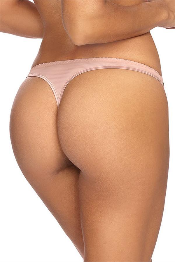 Doorzichtige string roze met goud-2