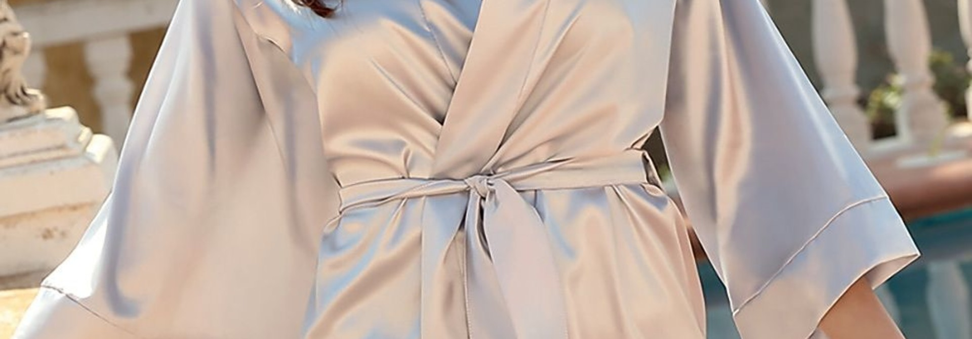 Zilvergrijze Kimono