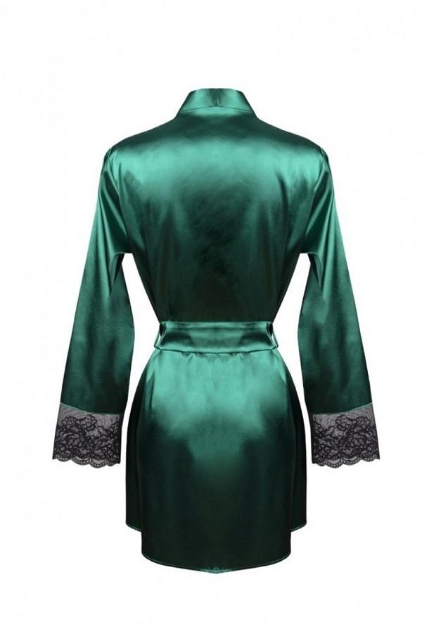 Donkergroene Kimono met Kant-3