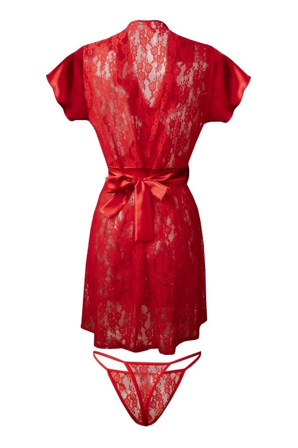 Rood Kanten Kimono Mia-1
