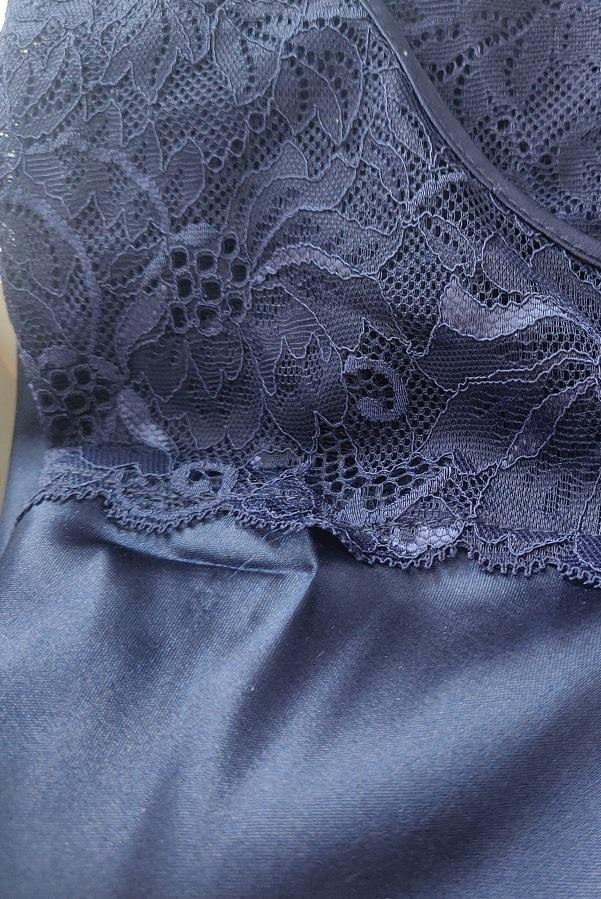 Marineblauw Nachthemd Betty-2