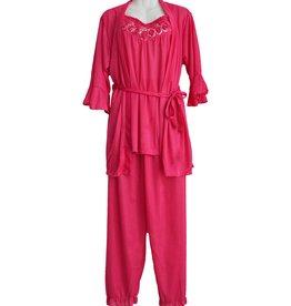 FINE WOMAN® 3-Teiliges Damen Nachtkleid 606