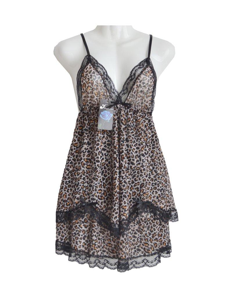 FINE WOMAN® Damen Babydoll Nachtkleid 352