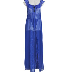 FINE WOMAN® Damen Babydoll Nachtkleid Lang S1034