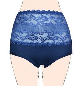 "FINE WOMAN® High-Waist Lace Cotton Panties ""6009"""