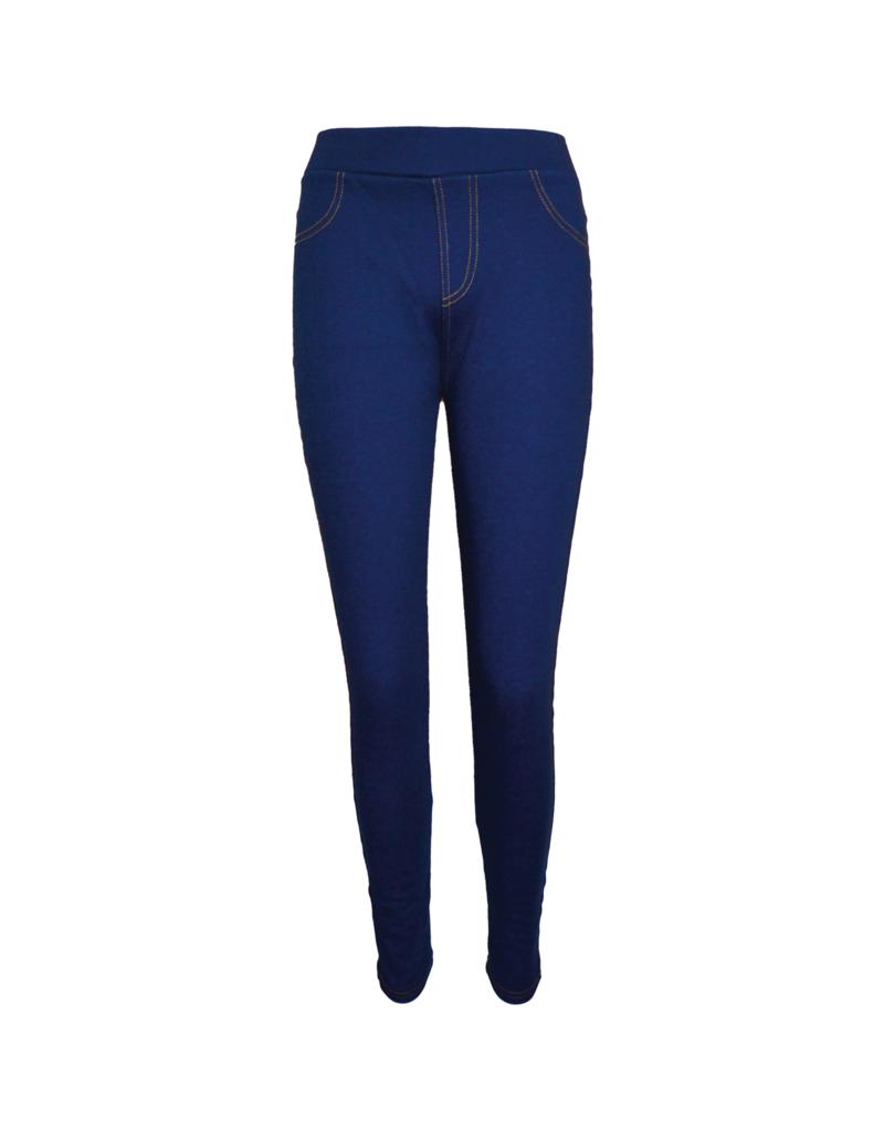FINE WOMAN® Damen Gefütterte Jeans Legging mit Gesäßtaschen