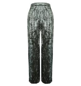 FINE WOMAN® Women's Pants Velour Pleated 33029
