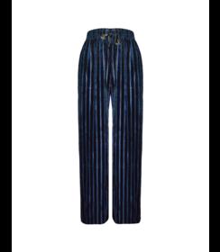 Dames Broek Velours Striped 33086