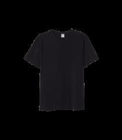 Herren Baumwolle T-shirt - Schwarz