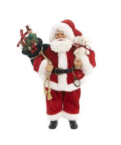 Kerstman met Cadeauzak en Kerstbeer