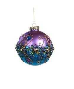 Chique Kerstbal met Glinster stenen en pailletten