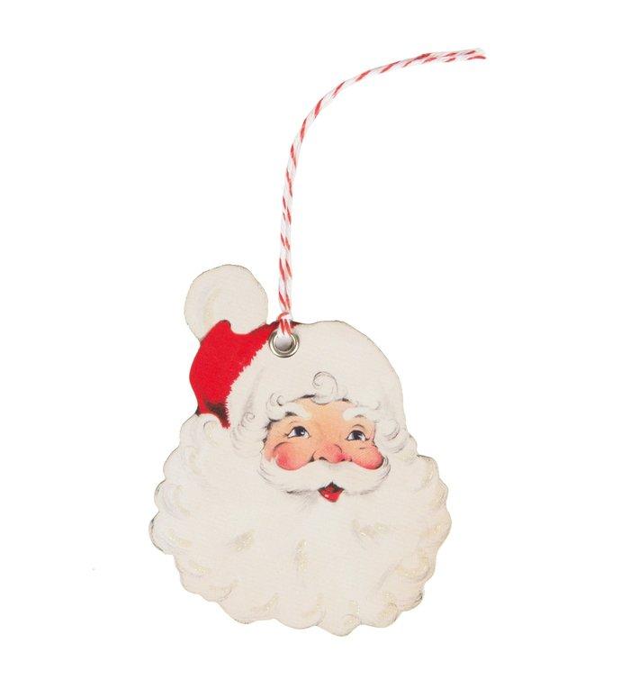 Sass & Belle cadeaukaartjes / cadeau labels voor kerstcadeaus Kerstman set van 10 stuks